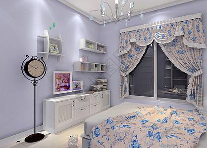 西方欧式卧室效果图图片