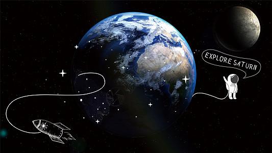 宇宙中的地球图片