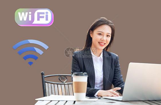 咖啡厅的wifi图片