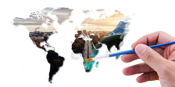 创意环保背景-绿化图片