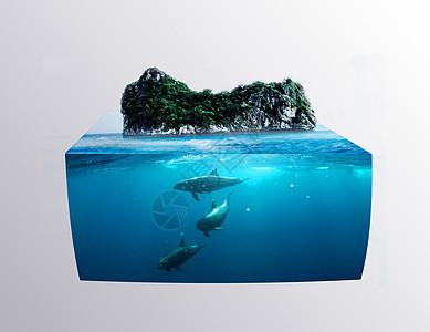 创意绿色环保背景图片