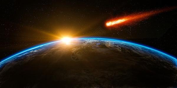 彗星冲击地球图片