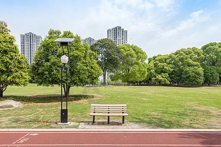 上海松江高校校园绿化及跑道图片