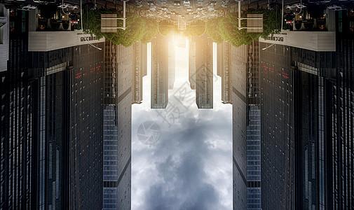 城市视角日出图片