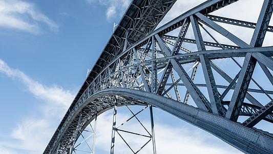 蓝天下的大桥图片
