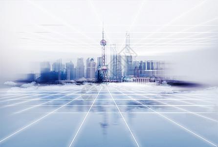 科技城市线条图片