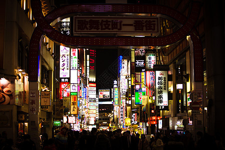 东京歌舞伎町夜景图片