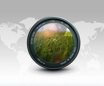 相机绿色合成创意图片