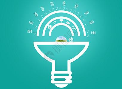 灯泡形状小图标创意图图片