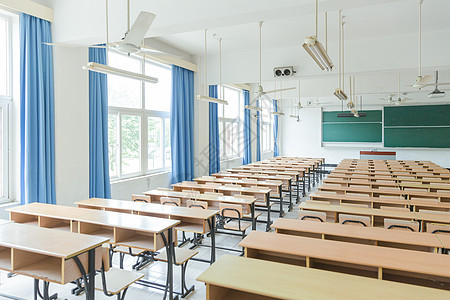 校园设施大气文艺教室图片
