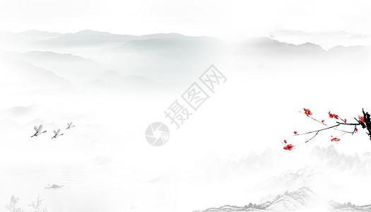 中国风背景banner海报图片
