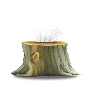 保护树木环保手绘图高清图片
