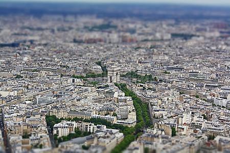 法国巴黎城市鸟瞰图图片