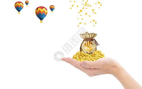 搬运金币的热气球图片