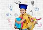创意小学生合成图片