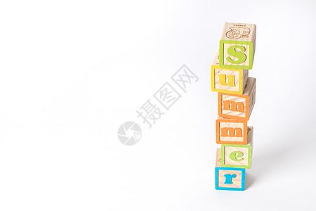 夏天字母留白背景图片
