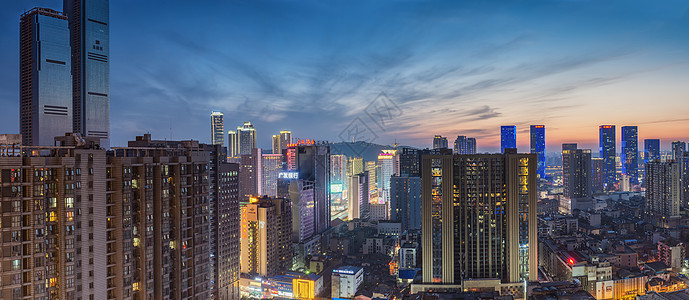 长沙城的魅力黄昏图片