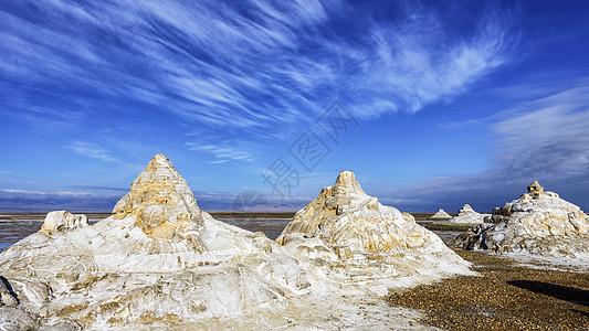 茶卡盐湖雕塑群图片