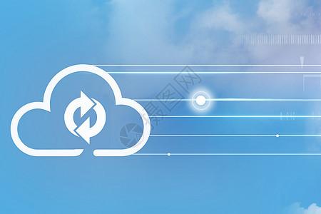 云上的循环标志图片