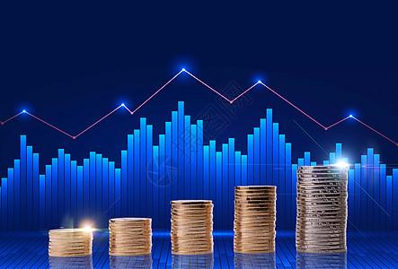 货币升值走势概念图图片