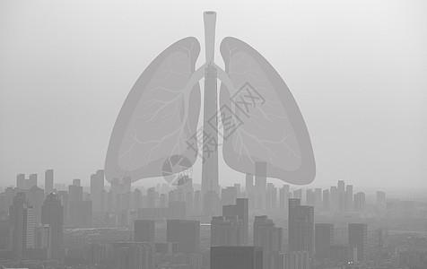 雾霾中的肺图片