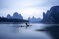 漓江渔火图片