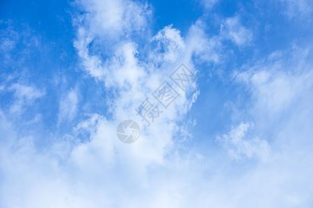 清新蓝天白云背景素材图片