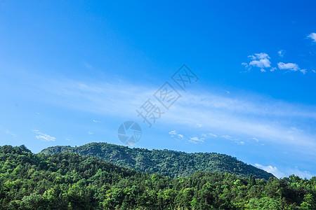 清新自然山蓝天白云背景图片