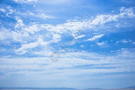晴天蓝天白云山脉背景素材图片