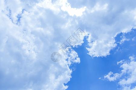 晴天蓝天白云背景素材图片
