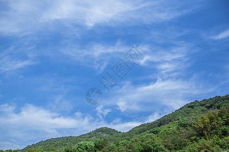清新山脉蓝天白云风景图片