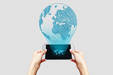 全息投影学习地理图片