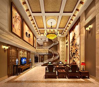 别墅客厅设计效果图图片