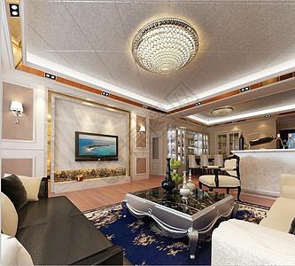 简欧客厅设计效果图图片
