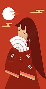 传统古典插画女孩图片