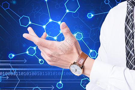 未来科技的商务人士图片