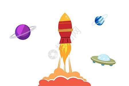 彩笔火箭图片