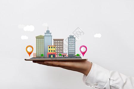 平板手机APP建筑与定位图片