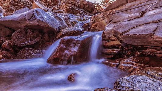 小溪瀑布图片