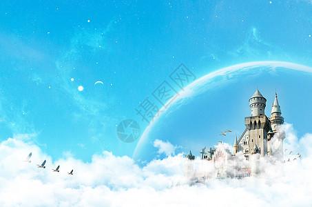 云层之上-创意城堡图片