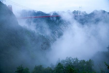 云雾中的大桥图片
