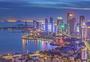 繁华的城市夜景图片