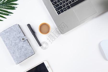 办公与喝咖啡图片