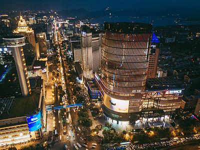 现代化城市夜景图片