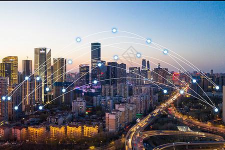 城市夜景展示与科技图片