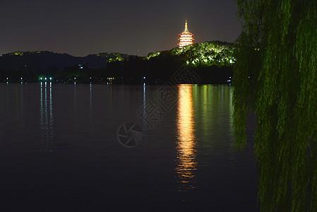 杭州西湖夜景图图片