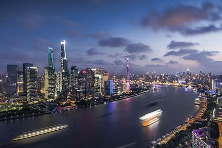 星光璀璨的上海北外滩夜景图片