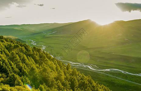 四川色达清晨美景图片