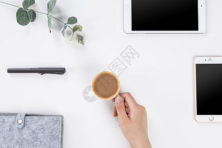 文艺办公桌桌面图片