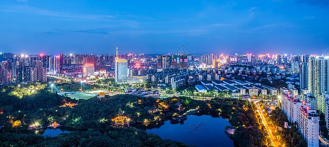 蓝调的城市图片